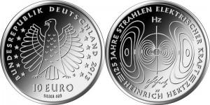Germany 10 euro 2013 Heinrich Hertz