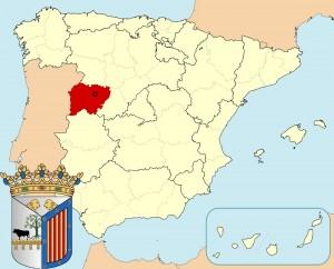 Саламанка на карте Испании и герб города