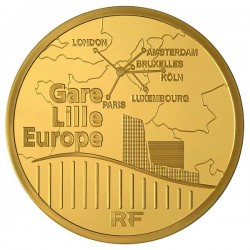 France 2010. 50 euro (gold). Gare de Lille-Europe