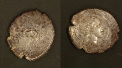 Silver tetradrachm from Syracuse