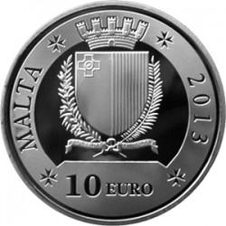 Malta 2013. 10 euro. Grand Master Emmanuel Pinto