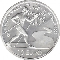 Spain 2002. 10 euro. XIX Winter Olympics - Salt Lake City