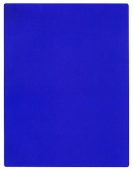 Monochromatic painting IKB 191 (1962)
