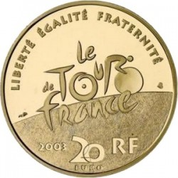 France 2003. 20 euro. Tour-de-France. Arrival of the Champs Elysees