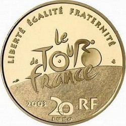 France 2003. 20 euro. Tour-de-France. Stage Mountain