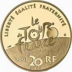 France 2003. 20 euro. Tour-de-France. Time trial