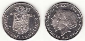 Netherland 1980 2.5 gulden