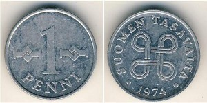 1 Penny Finland 1974