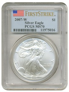 us silver eagle slab 2007