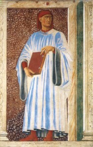 Giovanni Boccaccio (fresco  from the cycle Famous People, 1450)
