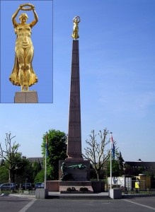 Golden Lady monument