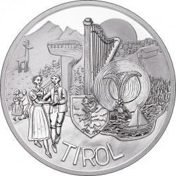 Austria 2014. 10 euro. Tirol (Ag 800)