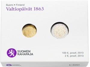 Finland's coins 2013 Diet of 1863