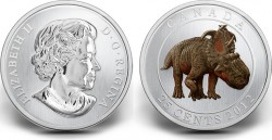 COTY-2014 Canada 25 cent Dinosaur Pachyrhinosaurus