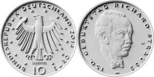 Germany 10 euro 2014 Strauss