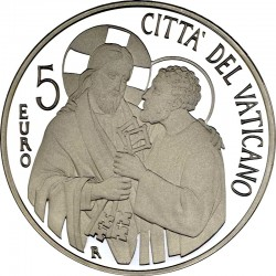 Vatican 2013. 5 euro. Beginning of the pontificate of Pope Francis