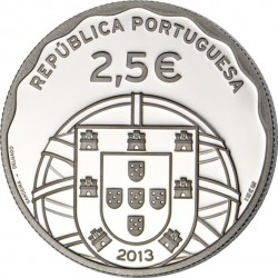 Portugal 2013. 2.5 euro. Submarino (Ag 925)