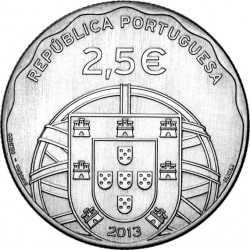 Portugal 2013. 2.5 euro. Submarino (Cu-Ni)
