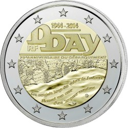 2 euro France 2014 D-Day