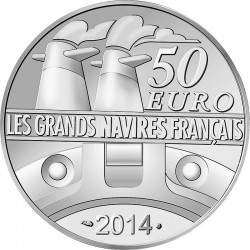 France 2014. 50 euro (Ag 950). Normandie