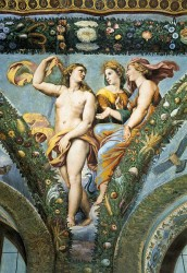 Raphael in the Villa Farnesina in Rome