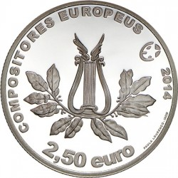 Portugal 2014. 2.5 euro. Marcos Portugal (Ag 925)