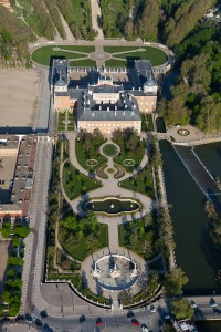 Royal Palace of Aranjuez aerial view