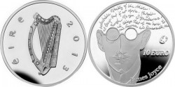 Ireland 2013. 10 euro. James Joyce