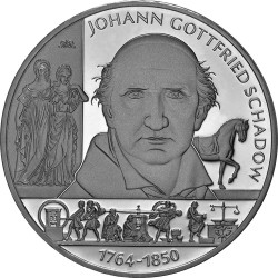 Germany 2014. 10 euro. Johann Gottfried Schadow (Ag 925)