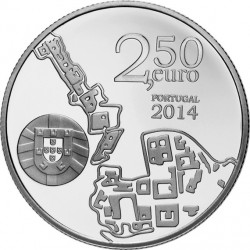 Portugal 2014 2.5 euro University of Coimbra (Ag 925)