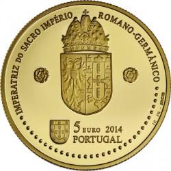Portugal 2014. 5 euro. Leonor de Portugal. Au 999