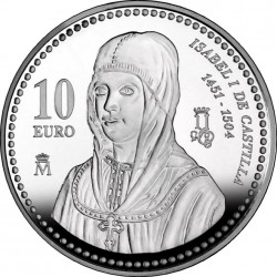 Spain 2004. 10 euro. Isabella I of Castile
