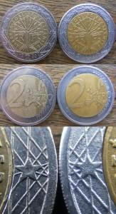 Fake 2 euro coin