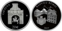 Lithuania 2017 20 euro Radziwill Castle