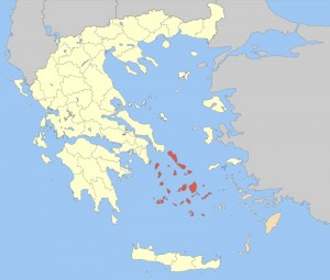 Cyclades map