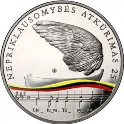 Lithuania 2015. 20 euro. Independence
