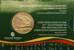 Lithuania 2015 5 euro Independence card