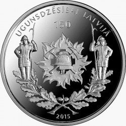Latvia 2015. 5 euro. Fire