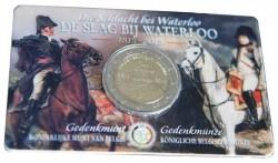 2 euro. Belgium 2015. Waterloo. Coincard