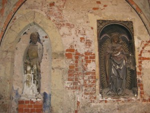 Riga castle Virgin Mary and Master of the Livonian Order Wolter von Pletenberg