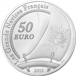 France 2015. 50 euro. Ag 950. Soleil Royal