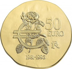 France 2015. 50 euro. Mitterrand