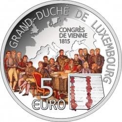 Luxemburg 2015. 5 euro. Congress of Vienna