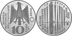 Германия, 10 евро, «300-летие шкалы Фаренгейта»