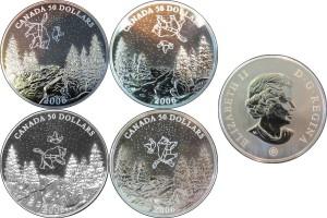 Canada 2006. 50 dollars. Palladium Coin Set