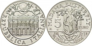 Italy 2004. 5 euro. Madame Butterfly