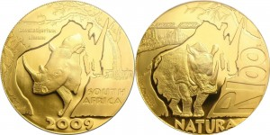 SAR 2009. 100 rand. White Rhino