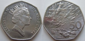 UK 1994. 50 pence. Invasion of Normandy