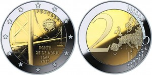 2 euro Portugal 2016 Bridge