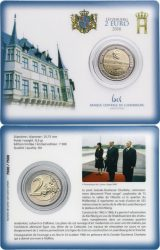 2 euro Luxemburg 2016 Grand Duchess Charlotte Bridge Coincard